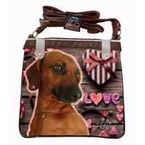 Bolsa Feminina Cachorro Basset Daschshund (sty111)