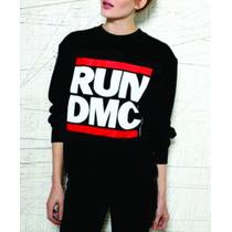 Blusa Casaco Moletom Feminino Grupo Run Dmc Hip Hop Rap