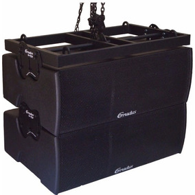 Gabinete Line Array Gradus-p/ 2 Fte 10 +driver Titanio