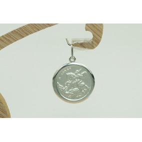 Pingente Medalha São Jorge (m3r) Prata 925
