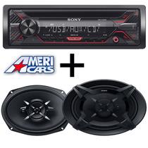 Combo Stereo Sony Cd/usb Parlantes 6x9 Sony Auto. Audio Car