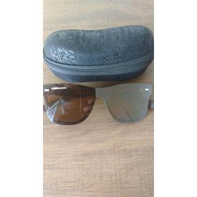Óculos Sol Masculino Polarizado Marrom Quadrado Chilibeans