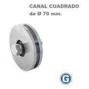 Rueda Acero Canal H Cuadrado U 70 Mm Ruleman Portón Granero