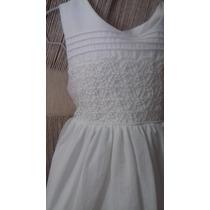 Vestido Para Niña Color Blanco De Manta
