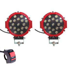 Kit X 2 Faros Proyector 12/24v 17leds 3700lm 51w + Switch