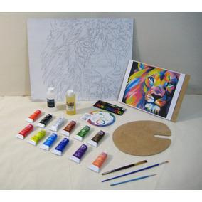 Set Pintura Oleo, Kit De Arte, Para Pintar De León Colores