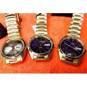Reloj Orient Dorado Automático Tri Star 21 Jewels Original