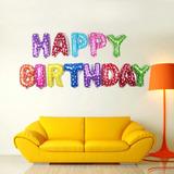 Globos Metalicos Cumpleaños Happy Birthday Fiestas Infantil