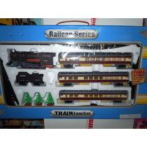 Tren Fenfa A Escala 1:87 -4 Vagones Y Acc. 325cm.de Vias