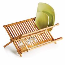 Escorredor De Louças Dobravel Bambu Quioto
