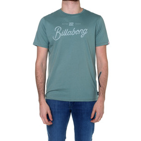 Remera M/c Billabong Black Fin Tee Greeen Hombre