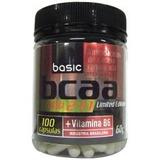 Bcaa Basic Nutrition + Vitamina B6 - 100 Cápsulas