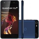 Celular Quantum You L 32gb 4g Android 7.0 Azul Frete Grátis