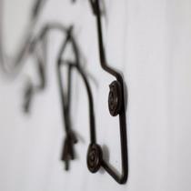 Iguana Adorno De Hierro Para Colgar Deco Exterior Vintage