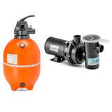 Kit Filtro F450+bomba Nbf1 1/2 Frete Gratis Nautilus Piscina