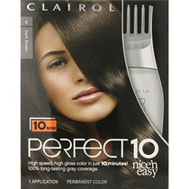 Clairol Perfect 10 Por Nice N Easy Color De Cabello Castaño
