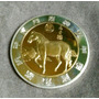Moneda Año Del Caballo Bañado En Oro 24k