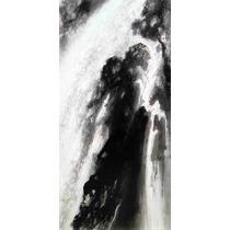 Lienzo Tela Arte Japón Decoración Nihonga Cascada 50 X 100