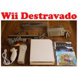 Nintendo Wii Destravado + Controles + 3 Jogos
