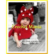Poncho Capa A Crochet Mimi Minie Mouse Con Gorro