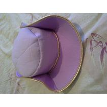 Sombrero Disfraz Niña Dama Antañona O Vaquera Morado Dorado