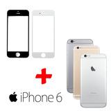 Tela Vidro Sem Touch + Carcaça Traseira Aro Iphone 6 4.7