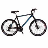 Bicicleta On Trail Aluminio Rin 26 Shimano Tipo Moto 7-negro