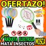 Wow Raqueta Electrica Mata Mosca Mata Insectos Original