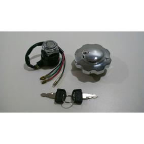 Chave De Ignição Cg125 Bolinha 77/82+tampa De Tanque Kit