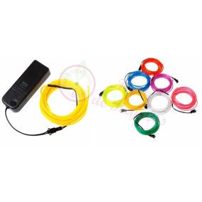Hilo De Luz Led Neon 3 Mts Funciona A Pila Cable Wire