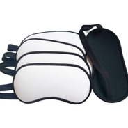 Kit 50 Máscara De Dormir Branca Para Sublimação
