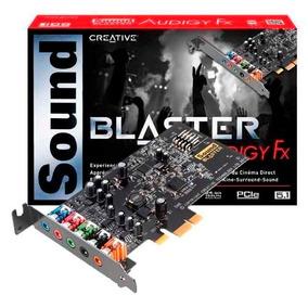 Placa Sonido Creative Sound Blaster Audigy Fx 5.1 Pci Ex Box