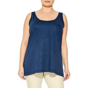 Musculosa Con Bolsillo - Talles Grandes -mamy Blue