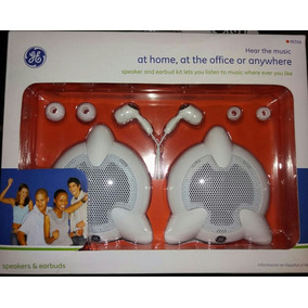 Parlantes General Electric Ge + Auriculares In Ear