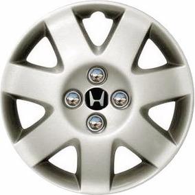 Calota Aro 15 Civic Ano 2001 Há 2008 Emblema Honda Alumínio