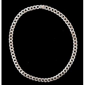 Corrente 90 Cm +pulseira Prata 1x1 925 Grossa Largura