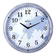 Relógio De Parede Analógico Herweg 660068 165 Cinza Marmore