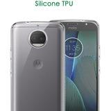 Capa Capinha Fina Motorola Moto G5s Plus 5.5 Xt1802+1p/vidro