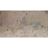 Mapa Planisferio Plastificado Estilo Medieval Mc