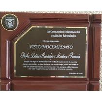 Reconocimientos Diploma Placa Conmemorativa Grabado Diamante