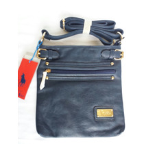 Bolsa Crossbody Hpc Polo Azul Marino Nueva Original