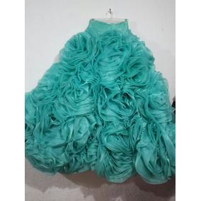 Vestido 15 Años Azulmenta Hecha De Puras Rosas