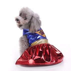 Fantasia Vestido Mulher Maravilha Cachorro Gato Pet