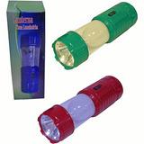 Lanterna Led Com Luminaria Recarregavel Ou Pilha