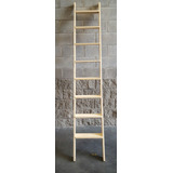 Escalera Simple Madera Para Entre Piso Con Herrajes 8 Esc.
