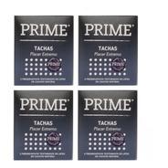 Preservativos Prime Condon Tachas 4 Cajitas X 3