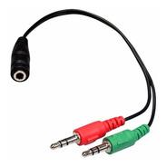 Adaptador De Audio  Plug 3.5 Hembra A Dos Plug 3.5 Macho