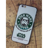 Carcasa Plástica Iphone 6, Star Wars Starbucks Coffee, Nueva