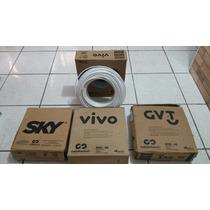 Cabo Antena Via Satelete Coaxial Rge-06 60 % Sky Vivo Gvt
