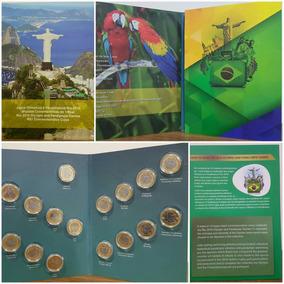 Álbum Cápsulas C/ 16 Moeda Fc Olimpiada Completo S/ Bandeira